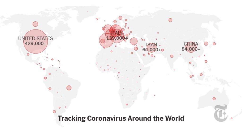 Mapa Coronavirus para abril de 2020